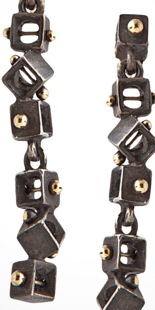 orecchini CUBES – serie 'textum'