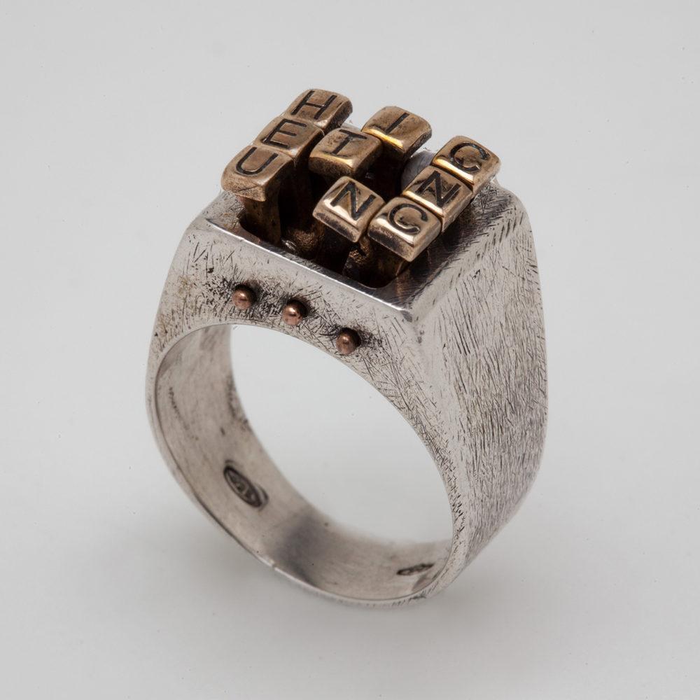 anello HIC ET NUNC 1 – serie 'movimenti'