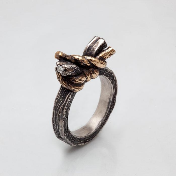 anello NODO DOPPIO 2 – serie 'nodi'