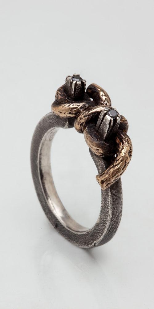 anello NODO DOPPIO 3 – serie 'nodi'