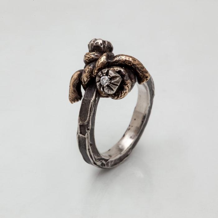 anello NODO DOPPIO 4 – serie 'nodi'