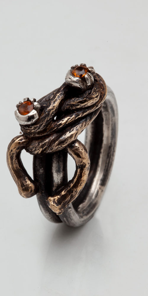 anello NODO DOPPIO 5 – serie 'nodi'
